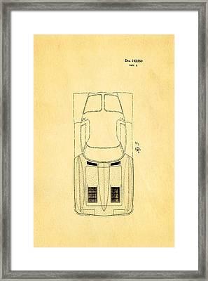 '63 Corvette Stingray 2 Patent Art 1962 Framed Print by Ian Monk