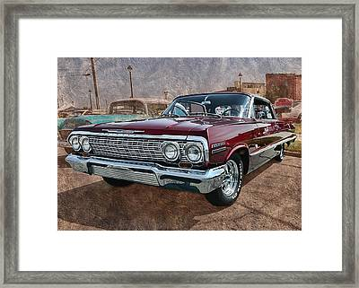 '63 Impala Framed Print by Victor Montgomery