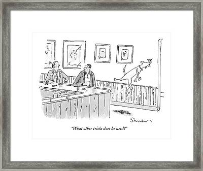 What Other Tricks Does He Need? Framed Print by Danny Shanahan
