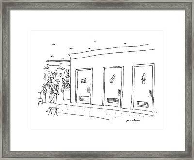 Bathroom Evolution Framed Print