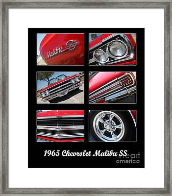 65 Malibu Ss Poster Framed Print by Gary Gingrich Galleries