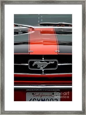 65 Mustang Framed Print