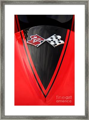65 Sting Ray-torch Red-hood-8785 Framed Print by Gary Gingrich Galleries