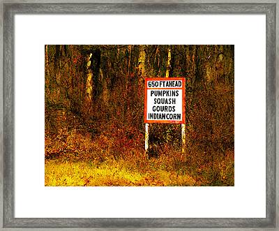 Framed Print featuring the digital art 650 Ft. Ahead by David Blank