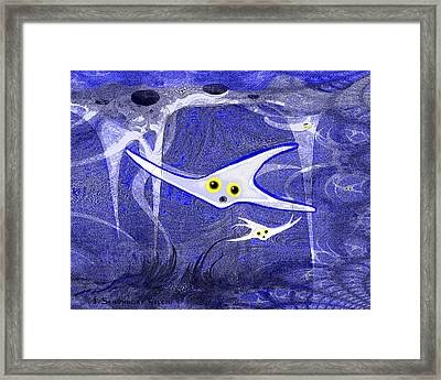 655 -   Under The Ocean Blue Framed Print by Irmgard Schoendorf Welch