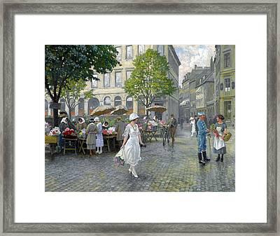 Copenhagen Framed Print by Paul Gustav Fischer