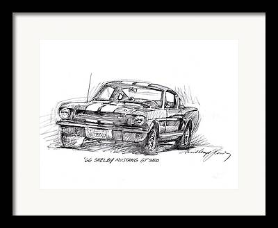 Shelby 350 Framed Prints