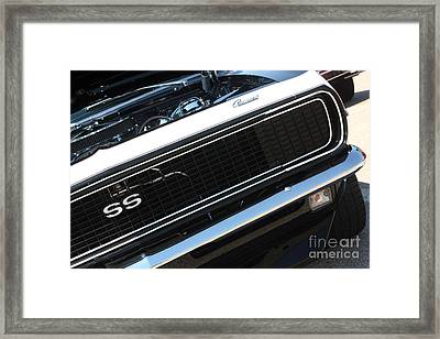 67 Black Camaro Ss Grill-8039-2 Framed Print by Gary Gingrich Galleries