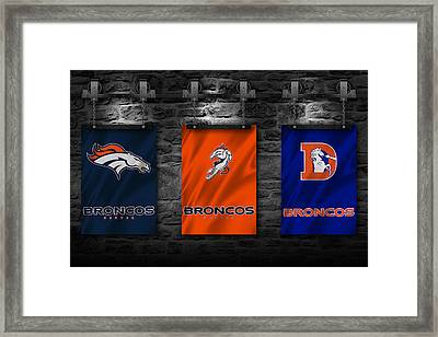 Denver Broncos Framed Print by Joe Hamilton