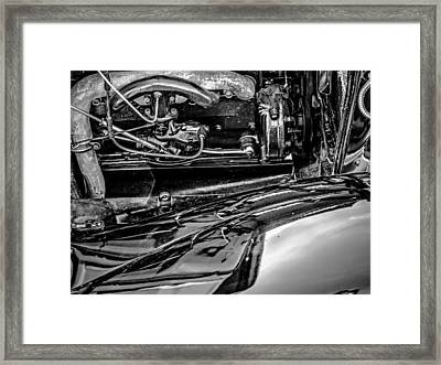 Ford Model A In Black And White Framed Print by Steve Knievel