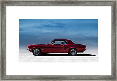 67 Mustang Framed Print by Douglas Pittman