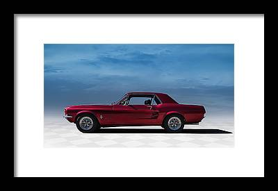 Vintage Mustang Car Framed Prints