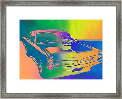 67 Pontiac Gto Pop Art Framed Print by Dan Sproul