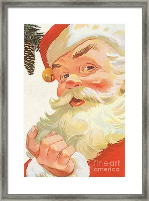 Vintage Christmas Illustration Framed Print by Indian Summer