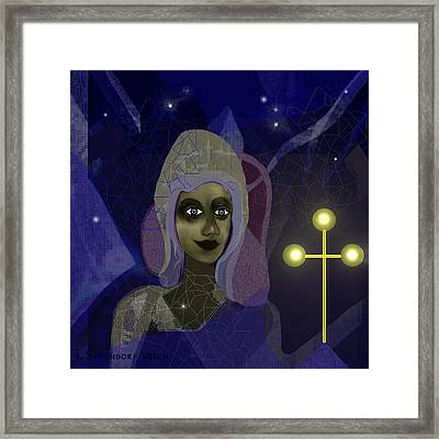 673 - Young Girl With Cross Framed Print by Irmgard Schoendorf Welch