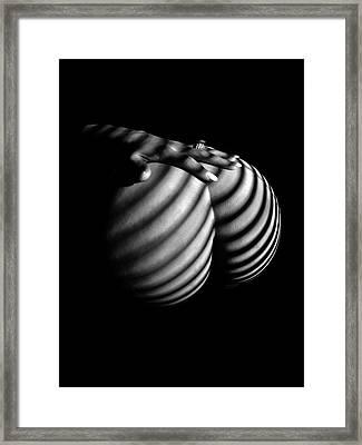 6747 Zebra Woman Nude Stripe Series   Framed Print