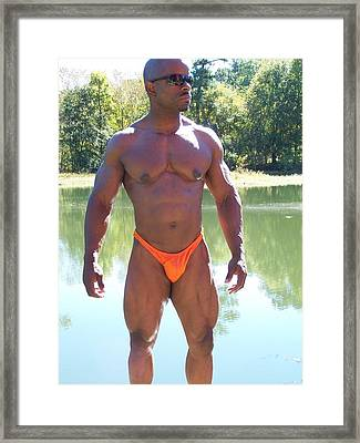 Male Muscle Art Framed Print by Jake Hartz