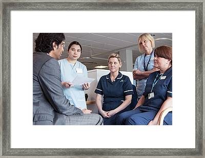 Shared Care Dialysis Unit Framed Print by Life In View