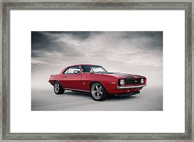 Framed Print featuring the digital art 69 Camaro by Douglas Pittman