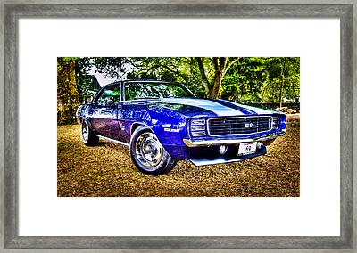 69 Chevrolet Camaro - Hdr Framed Print by motography aka Phil Clark