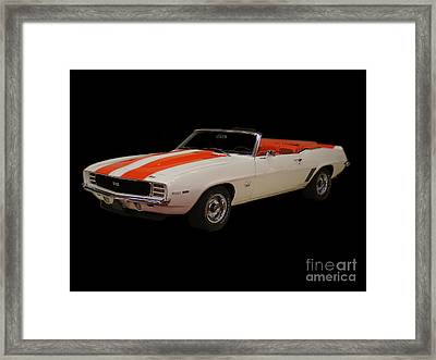 69 Chevy Camaro Ss Framed Print
