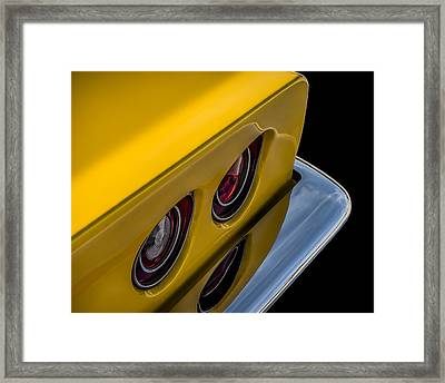 '69 Corvette Tail Lights Framed Print by Douglas Pittman