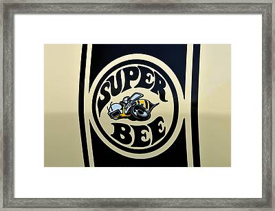 69 Dodge Super Bee Framed Print by Thomas Schoeller