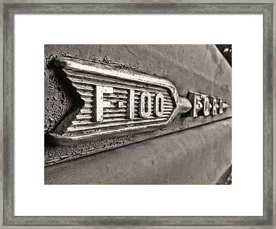 69 F-100 Framed Print