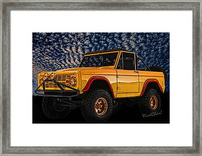 69 Ford Bronco 4x4 Restoration Framed Print