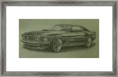 69 Mach 1  Framed Print by Frankie Thorpe
