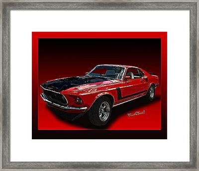 69 Mustang Mach 1 Framed Print