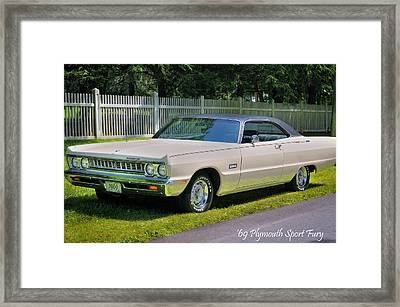 '69 Plymouth Sport Fury Framed Print by Thomas Schoeller