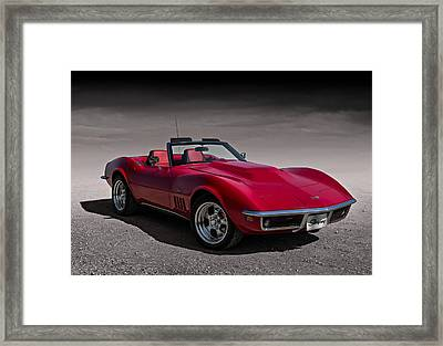 69 Red Stingray Framed Print