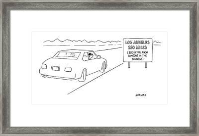 New Yorker February 21st, 2000 Framed Print