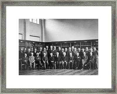 6th Solvay Conference On Physics, 1930 Framed Print by Science Photo Library