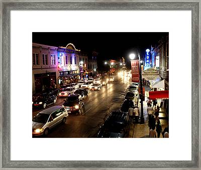 6th Street Austin Texas Framed Print
