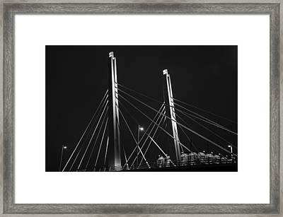 6th Street Bridge Black And White Framed Print