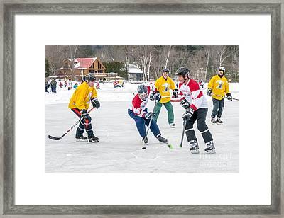 6th Vermont Pond Hockey Framed Print by Jim Block