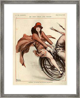 1920s France La Vie Parisienne Framed Print by The Advertising Archives