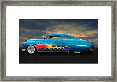 1950 Mercury Framed Print by Frank J Benz