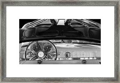 1955 Mercedes-benz Gullwing Dashboard - Steering Wheel Framed Print