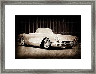 Framed Print featuring the photograph 1960 Chevrolet Corvette by Jill Reger