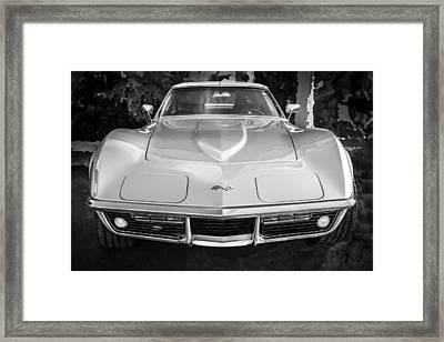 1969 Chevrolet Corvette 427 Bw Framed Print