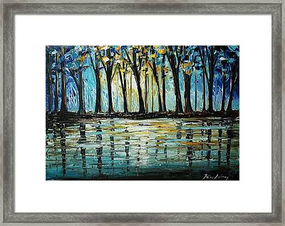 Abstract Landscape Framed Print by Jolina Anthony