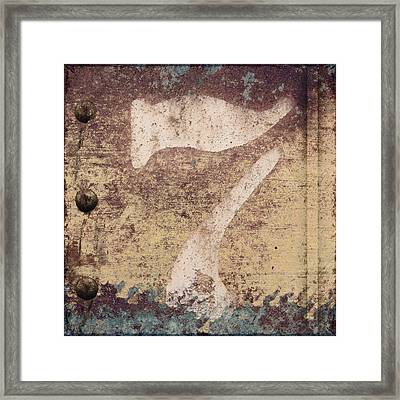 7 And Rivets Framed Print by Carol Leigh