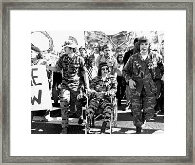 Anti Vietnam War Demonstration Framed Print by Underwood Archives Adler