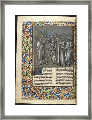 Augustine's 'city Of God' Framed Print by British Library