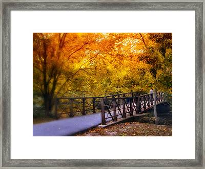Autumn Crossing Framed Print by Jessica Jenney