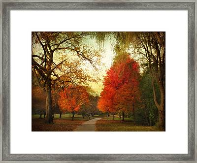 Autumn Promenade Framed Print
