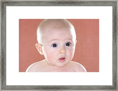 Baby Girl Framed Print by Ruth Jenkinson/science Photo Library